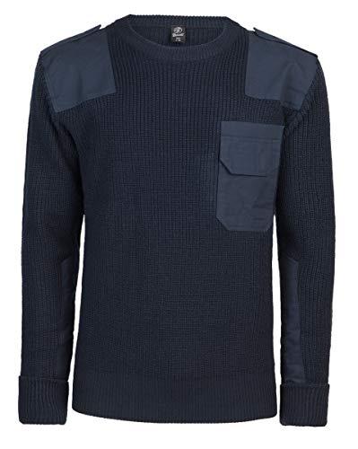 Brandit BW-Pullover Suter Pulver, Azul Marino, Medium para Hombre
