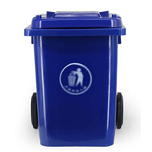 Cubo de basura multifuncional Exterior contenedores de reciclaje, la basura de plástico puede con plaza de ruedas Reciclaje compost papelera de la calle Patio de fábricas industriales de basura Caja d