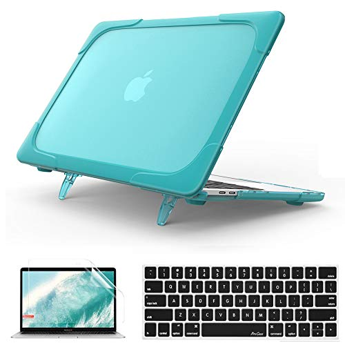 QYiD MacBook Pro 13 Retina Case A1502 & A1425, 2 in 1 Heavy Duty ShockProof Matt Protective with Keyboard Cover & Screen Protector for MacBook Pro 13' with Retina Display(2012-2015 Release), LightBlue