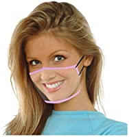 3 pezzi di protezione per il viso trasparente con aperta, mezza per il viso in plastica trasparente per il viso protezione elastica comoda per la bocca, protezione per il viso di sicurezza #1