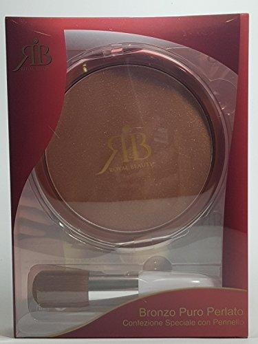 ROYAL BEAUTY Maxi Terre avec pinceau 38 g couleur bronze pur perlé.