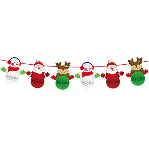 Yuanshenortey Christmas Decoration Paper Garland Flag Banner Christmas Decorations Decorative Accessories