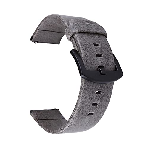 HGVVNM 20mm 22mm Strap Watch Vintage Leather Watch Band (Color : Gray, Size : 20mm)