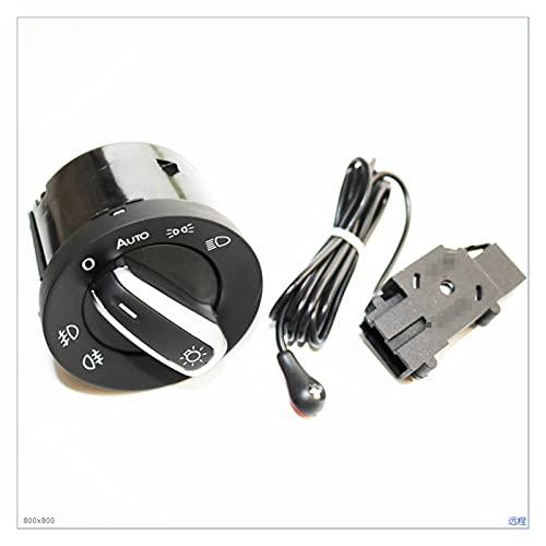 GUANGGUANG Heartwarming Shop Nuevo Interruptor de la luz del Faro y el Sensor de Interruptor de la luz Delantero automático para VW Golf 6 MK6 Tiguan Passat B6 B7 CC Touran Jetta (Color : One Set)