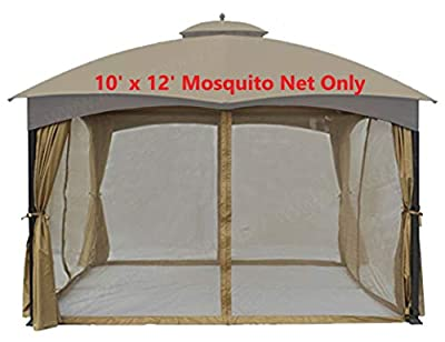 APEX GARDEN Universal 10' x 12' Gazebo Replacement Mosquito Netting (Mosquito Net Only)