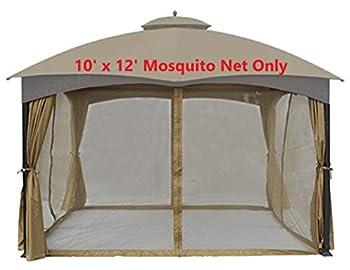 APEX GARDEN Universal 10  x 12  Gazebo Replacement Mosquito Netting  Mosquito Net Only
