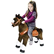 Pony Cycle Ponycycle Riding Horse Chocolate Brown with White Hoof- Med. Riding Horse
