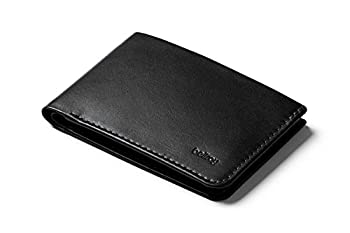 Bellroy Low Wallet slim leather wallet  Max 12 cards and flat bills  - Black
