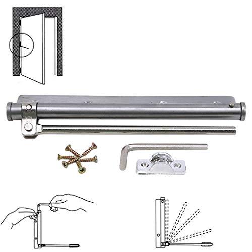 CAVIVI Verstellbarer Türschließer Verstellbarer Federtürschließer aus Edelstahl Automatischer Türschließer für Brandschutztüren Schließer