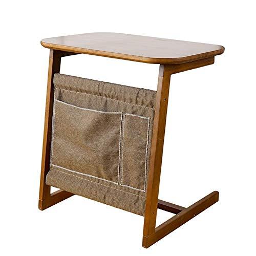 Einfache und Praktische Einfache Idee Laptop-Ständer für Schreibtisch Multifunktions-Couchtisch Studiertisch Einfacher Zeitungsständer, Bambus, Braun, 60X40X65Cm, WAJ