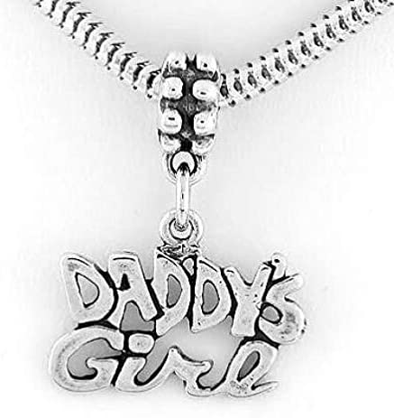 Silver Daddys Girl Dangle Bead DJ from FITS Bracelet European Cheap mail order specialty store Nashville-Davidson Mall