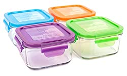 square shape glass containers