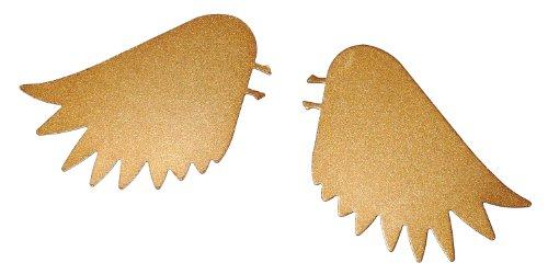Candles Wings Broche en forme d'ailes de Noël en métal pour bougies