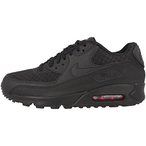 Nike Air Max 90 Essential, Scarpe da Ginnastica Uomo, Nero (Black/Black/Metallic Silver), 39 EU