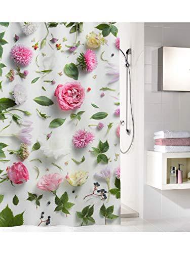 Kleine Wolke Rosalie - Tenda da doccia, 100% poliestere, multicolore, 180 x 200 cm
