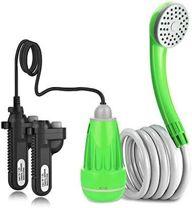 innhom Portable Shower Camping Shower Outdoor Camp Shower Pump, Electric Rechargeable Portable Camping Shower, Powered by Rechargeable Battery or Car Cigarette Lighter, 1 Year Warranty