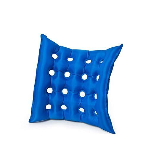 JIAJU Rollstuhl Aufblasbare Kissen Haushalt Mit Platz Loch Medizinische Kissen Aufblasbare Sitz Matratze Anti Dekubitus Rollstuhl Sitzkissen Blau