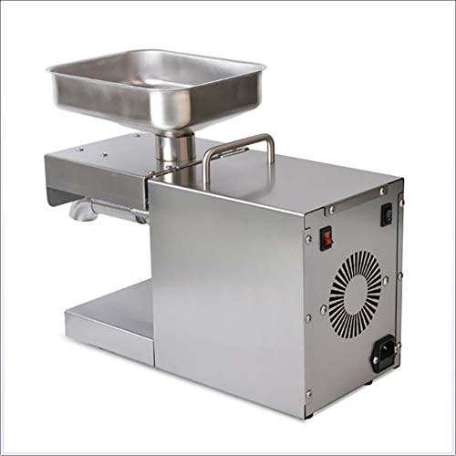FEENGG Küchenöl Pressemaschine Elektrische Automatische Ölpresse-Extraktor Bio-Öl-Expeller für kommerzielle Grade 1500W,110v