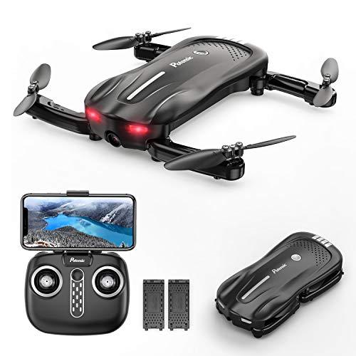 Potensic Drone D18 Pieghevole con Fotocamera 1080P a Flusso Ottico WiFi PFV Quadricottero con Due Batteria 16-20 Minuti di Volo Mantenere l Altitudine Drone RC Anti-collisione per Bambini e Adulti