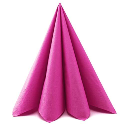 finemark 100 Stück | 33 cm Papierservietten PINK Tissue Servietten 3-lagig Tischdekoration Tischdeko Deko Lunch