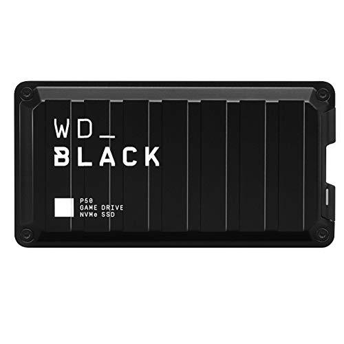 Western Digital WD_Black P50 Game Drive SSD 500 GB externe Festplatte (SuperSpeed USB 3.2 Gen 2x2, stoßfest, Lesegeschwindigkeiten bis 2000 MB/s ) Schwarz - auch kompatibel mit PC, Xbox und PS4