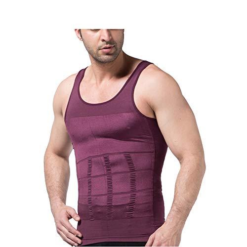 Jolie Herren Laufwesten Fitnessstudio Kompressions Tank Top Bodybuilding Muskel Trainieren Body Shaper,Lila,XXL