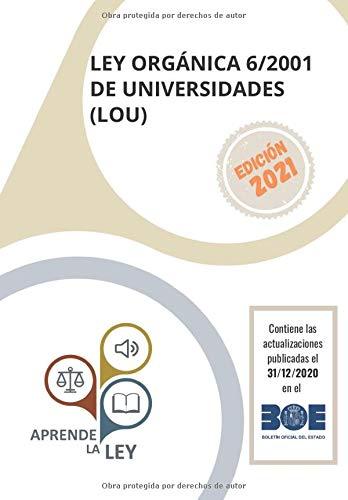 Test Ley Organica De Universidades Quadix Libros 2021