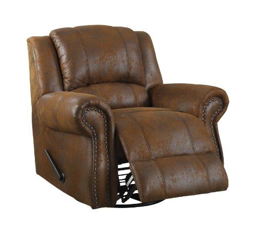 Homelegance Swivel Rocker Microfiber Recliner Chair