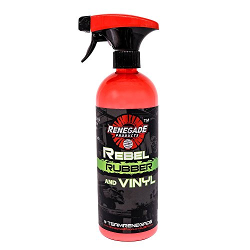 Rebel Rubber, Vinyl & Plastic Spray Shine With UV Protection, Anti-Static and Anti-Stick Properties, Protect Plastics, Tires & Interior Vinyls With Our Non Greasy Water Based Formula