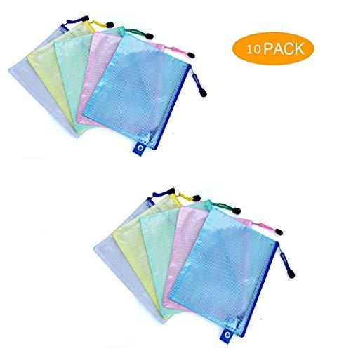 Plastic Portemonnees - Dikker A4 Plastic Rits Portemonneemap Mesh Document Tassen Voor School Kantoorbenodigdheden A4 Papier Bestand Opslag 10/20/30/40/50 stuks
