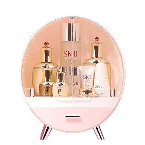 Uadme Maquillaje multifunción Organizador de Joyas Accesorios cosméticos Maquillaje Cajas de Almacenamiento Caja Tocador Estante Belleza Acrílico Escritorio Transparente(S)