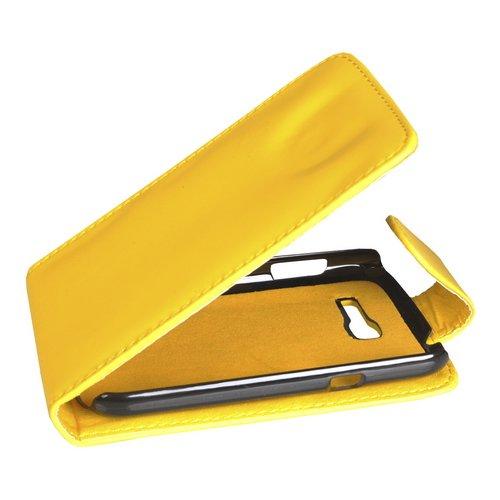Mobilfunk Krause Flip Case Etui Handytasche Tasche Hülle für Samsung GT-S7390 / S7390 (Gelb)