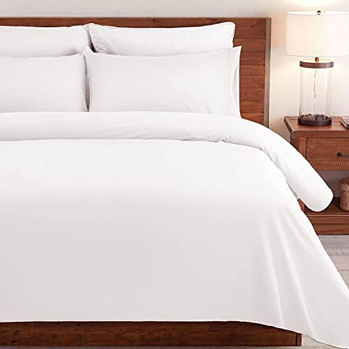 SONORO KATE Bed Sheet Set Super Soft Microfiber 1800 Thread Count Luxury Egyptian Sheets Fit 18 – 24 Inch Deep Pocket Mattress Wrinkle-4 Piece (White, King)