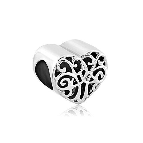 Pandora Charms Similar Style Heart Love Family Tree of Life Bead (4.8-5mm)