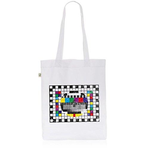 style3 Testbild Biobaumwolle Beutel Jutebeutel Tasche Tote Bag big bang, Farbe:Weiß