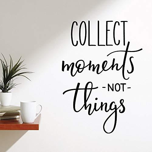 Dozili Collect Moments Not Things - Adhesivo decorativo para pared (vinilo, 70 cm (ancho) x 50 cm (alto)