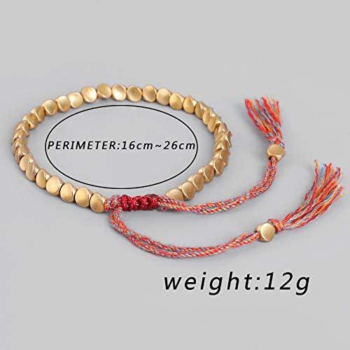 CHICIEVE Handmade Tibetan Copper Bead Bracelet Women Men Bracelet Lucky Amulet Rope Bracelet and Bangles Jewelry