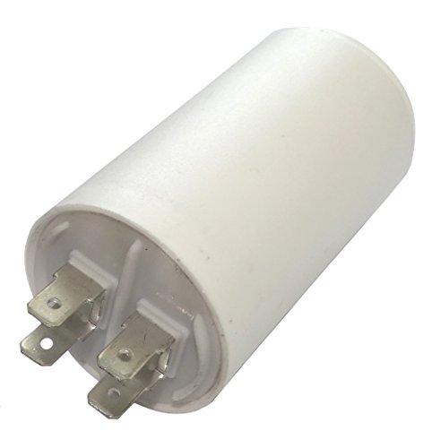 AERZETIX - C18632 - Betriebskondensator - für Motor - 20µF 450V - Ø40/70mm - mit 4 Flachsteckanschlüsse - Kunststoffkörper - Zylindrischer - Weiß