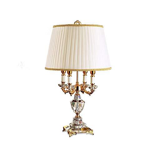 ECSWP TVDCC Lámpara de Mesa de Cristal clásico Europeo Iluminación en la alcoba de Noche lámpara de Cristal de Moda lámpara de Escritorio