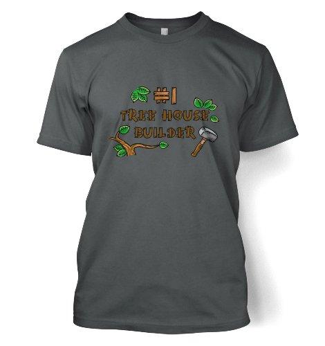 Herren T-Shirt Nummer 1 Tree House Builder Gr. Large, anthrazit