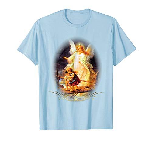 Guardian Angel Catholic T-Shirt & Prayer on Back