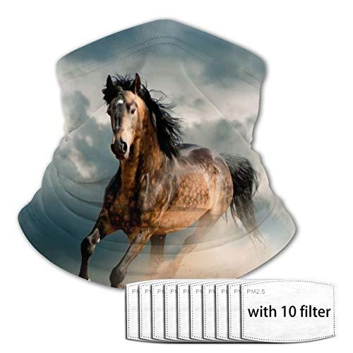 Mkh Running Horse Adolescente Deportes al aire libre Transpirable Hielo Seda Cara Toalla