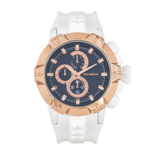Rocawear Mens Quartz Analog Watch with Oversized Dial
