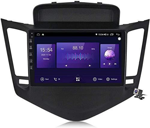 GPS Navigation Head Unit Sat Nav AUD Audio Player MP5 FM Radio Receptor Coche Estéreo 2.5D IPS Pantalla Táctil Android 10.0 Compatible para Chevrolet Cruze 2008-2014,4 Core WiFi 1+16GB