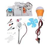 HEEPDD Motor Stirling, Ventilador Tipo T Miniatura Generador de energía de Aire Caliente Física Motor de Vapor Laboratorio Modelo de enseñanza Educación Juguete Generador de Electricidad