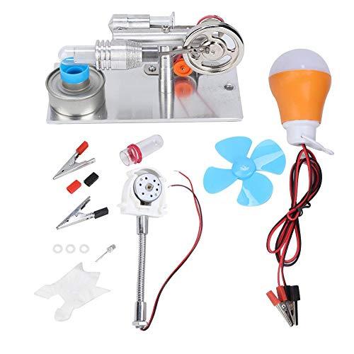 Taidda Motor Stirling, Modelo en Miniatura del Motor Stirling Ventilador Tipo T Miniatura del Motor Stirling Generador de energía de Aire Caliente Modelo de enseñanza de La