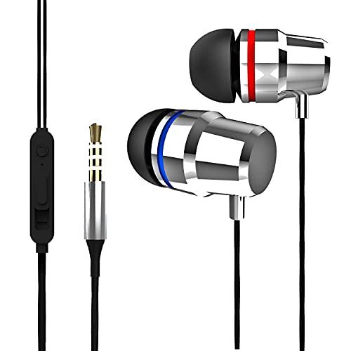 BREAIN Type1-Auricolari A Filo Resistenti Di Qualità Da Gaming e Running Con Microfono e Jack Compatibile con Iphone Samsung Per Musica Di Qualità
