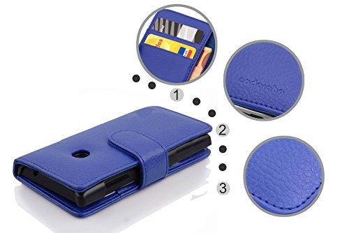 Cadorabo Hülle für Huawei Ascend Y330 - Hülle in KÖNIGS BLAU – Handyhülle mit Kartenfach aus struktriertem Kunstleder - Case Cover Schutzhülle Etui Tasche Book Klapp Style - 5