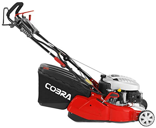 Cobra RM40SPCE 40cm (16in) Petrol Lawnmower with Roller for a striped lawn, Electric push button start, self propelled drive powered by a DG450 OHV engine