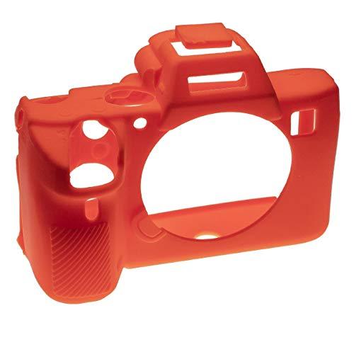 vhbw custodia compatibile con Sony Alpha 7 III, 7R III fotocamera - case, silicone, arancione